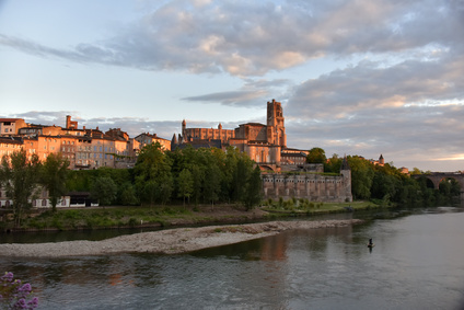 Cathdrale d'Albi au crpuscule France