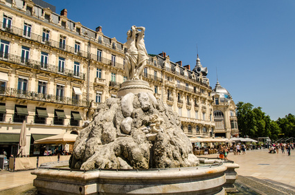 Place de la Comedie in Montpellier